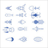 Vector of decorative arrow and pointer. Vector set of decorative for symbol arrow Stock Illustration