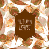Vector decorative autumn card Royalty Free Stock Photography