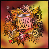 Vector decorative autumn sale blurred background Royalty Free Stock Photo