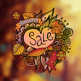 Vector decorative autumn sale blurred background Stock Images