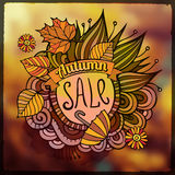Vector decorative autumn sale blurred background Stock Photos