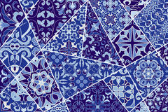Vector decorative background. Mosaic patchwork pattern for design and fashion. Portuguese tiles, Azulejo, Moroccan ornaments Stock Image