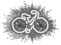 Vector decorative bicycle Stock Images