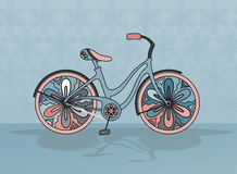 Vector decorative bicycle Royalty Free Stock Photography
