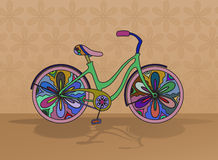 Vector decorative bicycle Royalty Free Stock Images