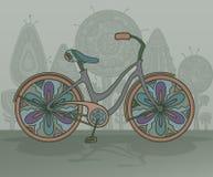 Vector decorative bicycle Stock Photo