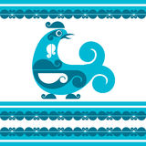 Vector decorative bird. In folk style Royalty Free Stock Images