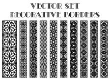 Vector decorative borders Royalty Free Stock Photos