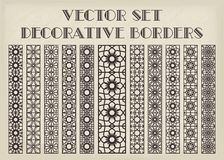 Vector decorative borders. Design elements and page decoration. Vector borders set Stock Photo