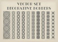 Vector decorative borders Stock Photography