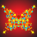 Vector decorative butterfly Stock Images