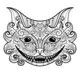 Vector Decorative Cheshire Cat Royalty Free Stock Photos