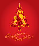 Vector decorative Christmas tree background Royalty Free Stock Images