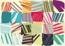Vector decorative color stripes. Stock Photos