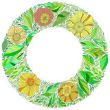 Vector decorative contour round frame. Royalty Free Stock Photography