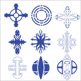 Vector of decorative cross and logo. Vector set of decorative for symbol arrow vector illustration