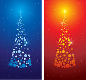 Vector decorative cute Christmas tree background Stock Image