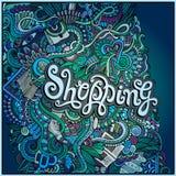Vector decorative design card shopping ; Stock Photography