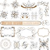 Vector decorative design elements: page decor. Frames, banners & ribbons Stock Photos