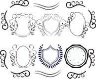Vector decorative design elements. Set Of Calligraphic Calligraphic decorative elements. Design elements, logos Royalty Free Stock Photos