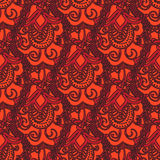 Vector  decorative doodles seamless pattern Royalty Free Stock Images