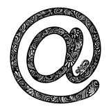 Vector Decorative e-Mail Symbol Stock Photos