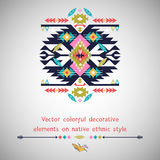 Vector decorative  element  on native ethnic style Royalty Free Stock Photos