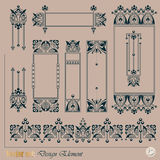 Vector decorative elements Royalty Free Stock Photos