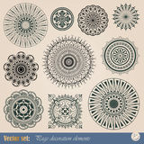 Vector decorative elements Stock Images