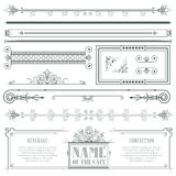Vector decorative elements for the design of diploma, advertisements, envelope, wedding  and invitations or greeting cards Royalty Free Stock Photo