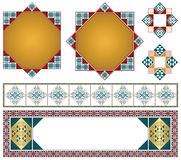 Vector decorative elements for the design of diploma, advertisements, envelope, wedding  and other invitations or greeting cards. Royalty Free Stock Photography