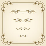 Vector decorative elements. Vector set of decorative elements for design Royalty Free Stock Photography