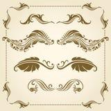 Vector decorative elements. Vector set of decorative elements for design Stock Images