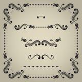 Vector decorative elements. Vector set of decorative elements for design Stock Photography