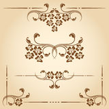 Vector decorative elements. Stock Images