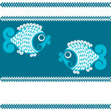 Vector decorative fishs Royalty Free Stock Photos