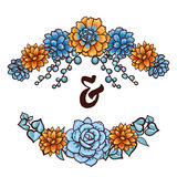 Vector  Decorative floral element of succulents Stock Images