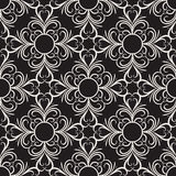 Vector decorative floral seamless pattern Royalty Free Stock Image