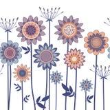 Vector decorative flowers Stock Photo