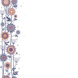 Vector decorative flowers fond Royalty Free Stock Photography