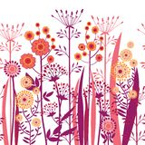 Vector decorative flowers seamless Stock Photo