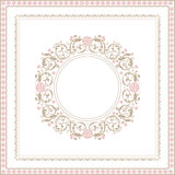 Vector decorative frame Stock Images