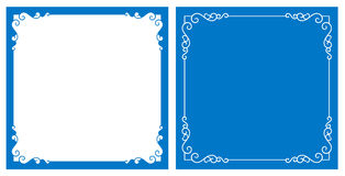 Vector decorative frame and background Royalty Free Stock Images