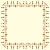 Vector decorative frame on beige background Stock Images