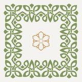 Vector decorative frame in the Celtic style Royalty Free Stock Image