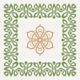Vector decorative frame in the Celtic style Stock Images