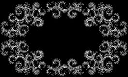 Vector decorative frame with curling shapes Stock Image