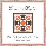 Vector decorative frame. Design elements and ornamental page decoration. Vector frame of mosaic borders Stock Photography