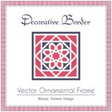 Vector decorative frame. Design elements and ornamental page decoration. Vector frame of mosaic borders Royalty Free Stock Images