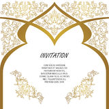 Vector decorative frame. Elegant element for design template. Royalty Free Stock Images